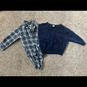 Button down and sweater set bundle